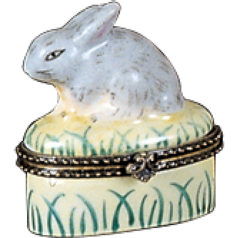 Limoges Style Bunny Ring Box