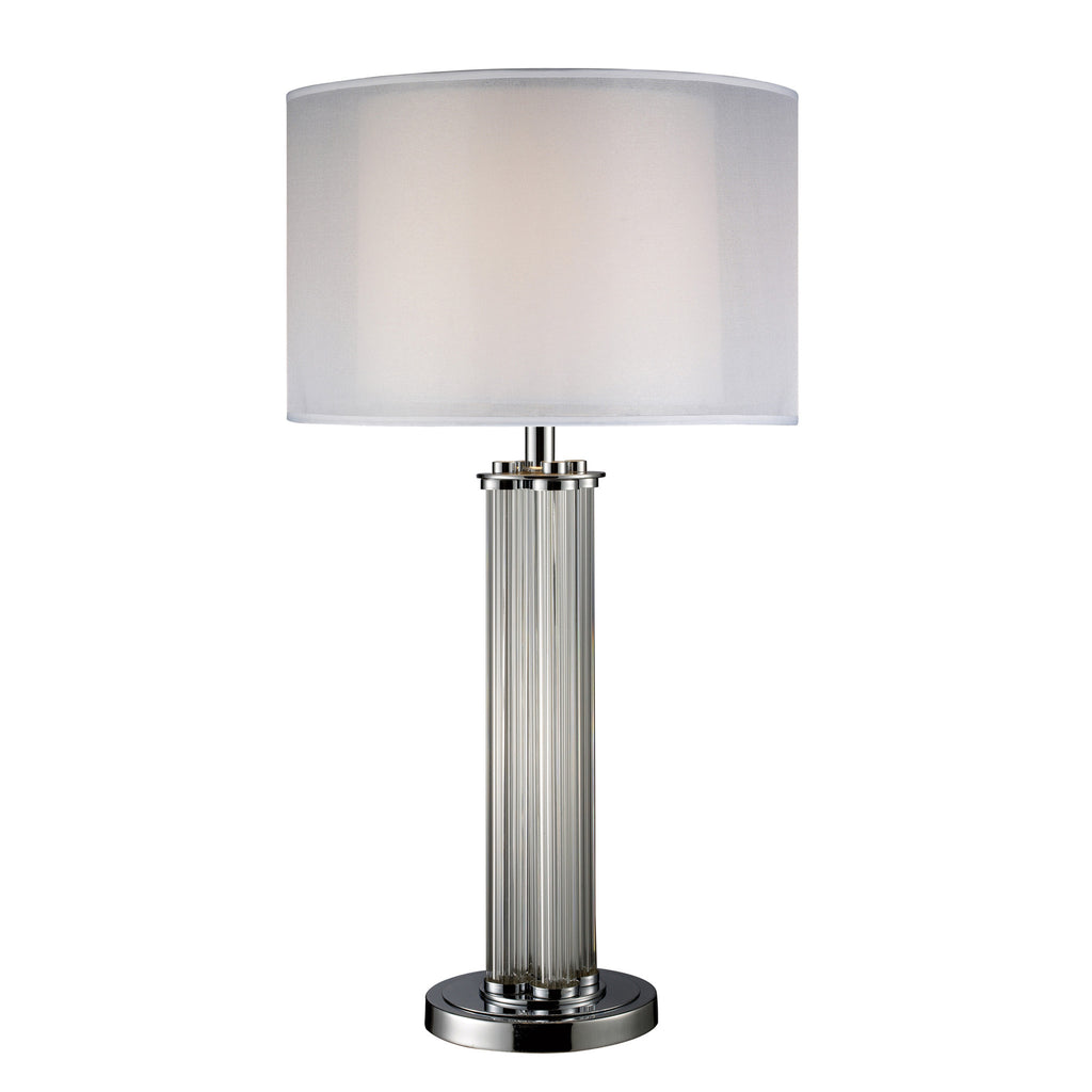 "Simplex Table Lamp  32"" H / Glass + Chrome - Deco Reimagined"