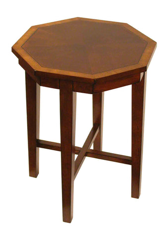 Octagon shape table, Mahogany