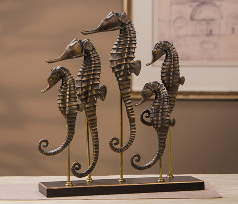 Jupiter Isle Collection //  Seahorse Schooling Sculpture