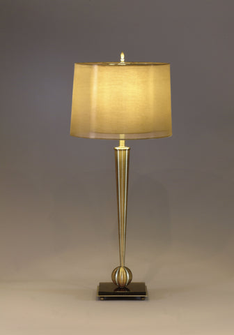 "Marlo Table Lamp 32"" H Antique Brass"