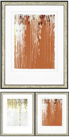 "Amarillo Coast -  Orange 39"" H Framed Artwork"