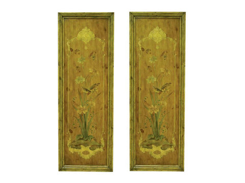Aviary Chinoiserie Oversized Wall Panels - Archival Screened - Framed