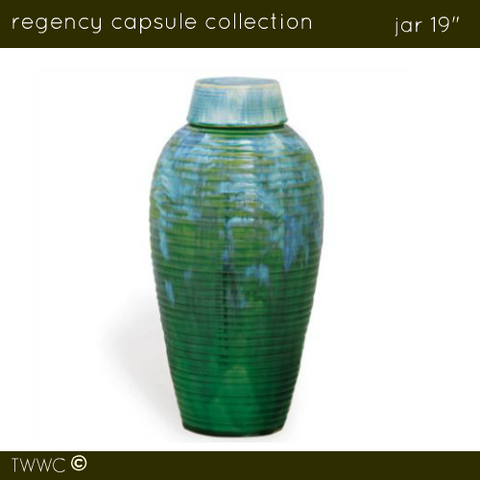 "Regency 19"" Jar - Sea Green / Blue"