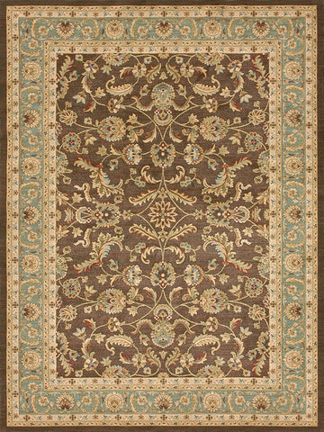 "7'7"" x 10'5"" Blue/Brown - TWWC Traditional Series 1 Area Rug"