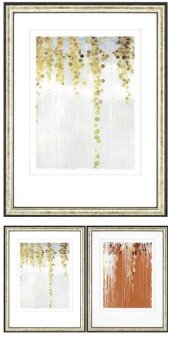 "Amarillo Coast -  Golds 39"" H Framed Artwork"
