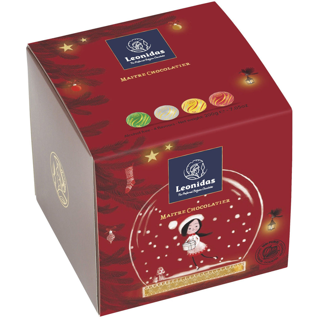 Christmas Cube Leonidas Chocolates UK