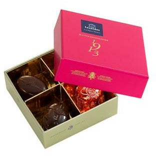 Fuchsia Box 4 pralines Classic Leonidas Chocolates-uk