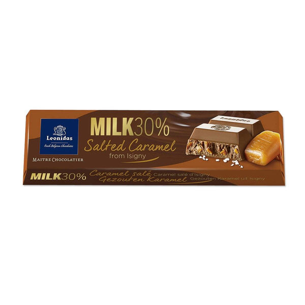 Milk Chocolate Salted Caramel Chocolate Bar 50g Classic Leonidas Chocolates-uk