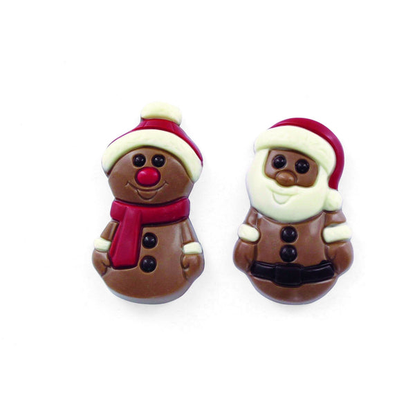 Mini Christmas Figurine Confectionary Leonidas Chocolates UK