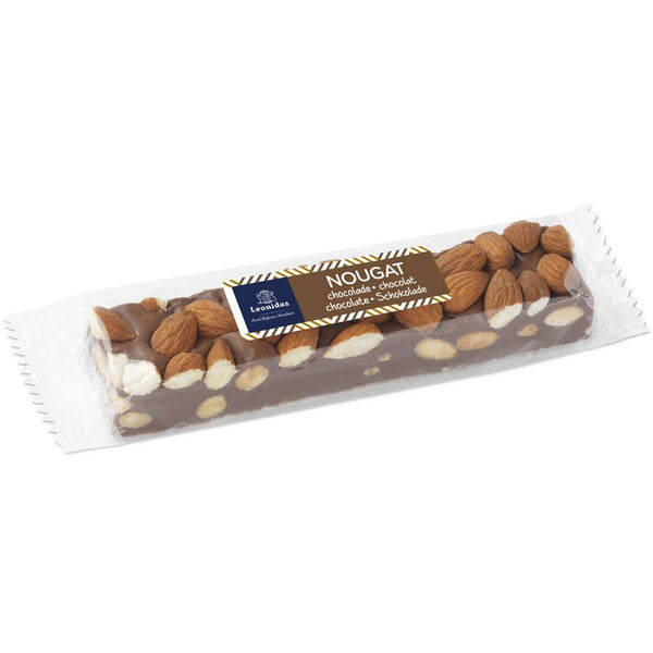 Nougat Bar Chocolate Almond Leonidas Chocolates UK