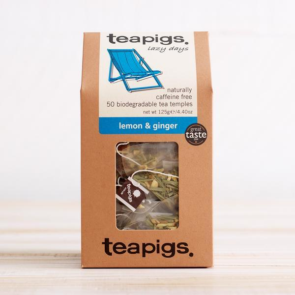 Teapigs Lemon & Ginger Tea Leonidas Chocolates UK