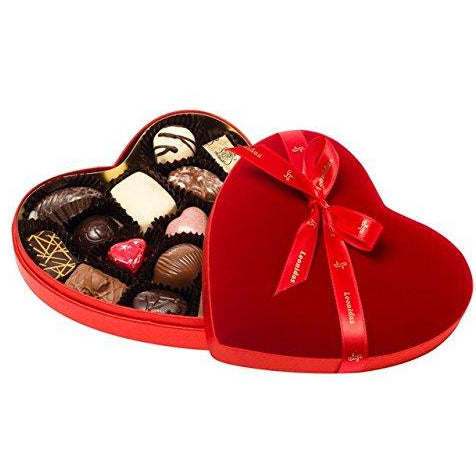 Velvet Heart Chocolate Assortment Box Classic Leonidas Chocolates-uk
