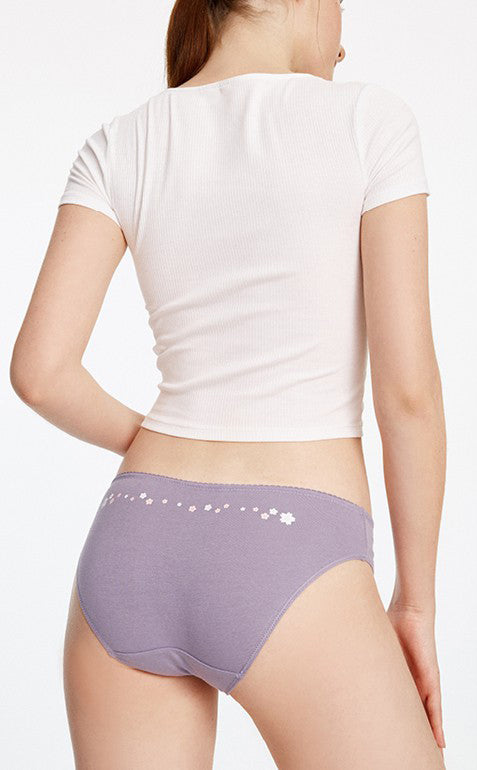 Hygiene Series • Mid Rise Cotton Hipster Panty - Peach Fleur