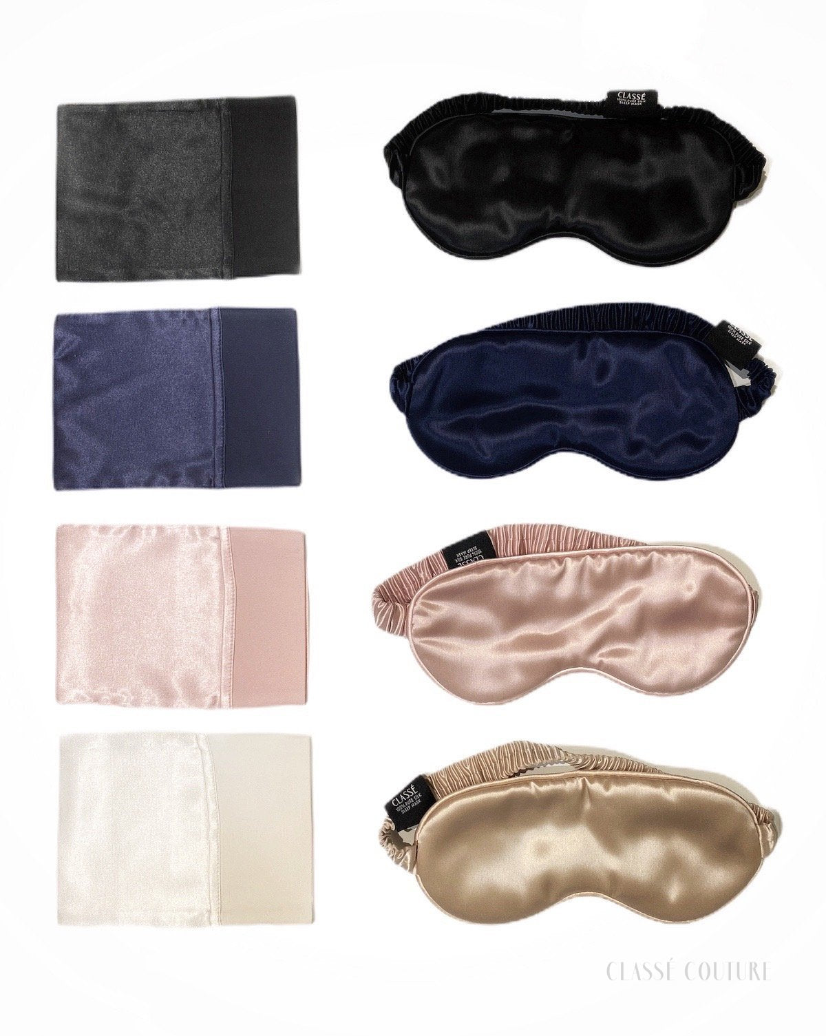 *Pre-order* 100% Mulberry Silk Luxury Sleep Mask - Peach Fleur