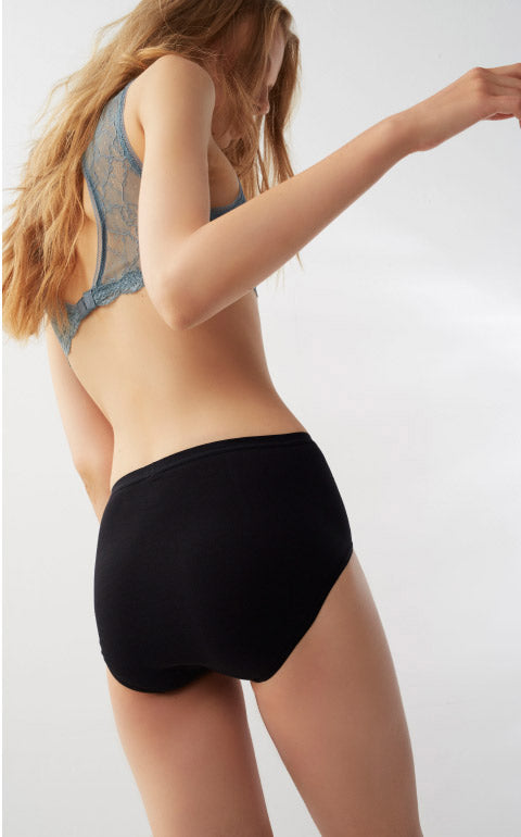 Hygiene Series • Classic High Rise Cotton Brief Panty - Peach Fleur