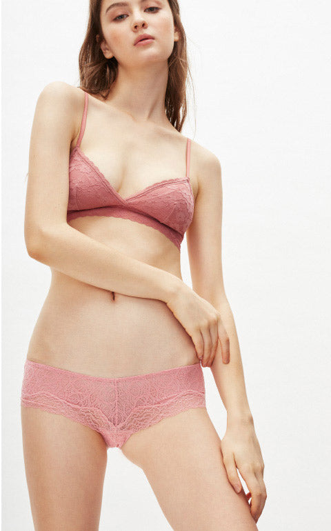 Pure • Mid Rise Lacie Caged Back Hipster Panty - Peach Fleur