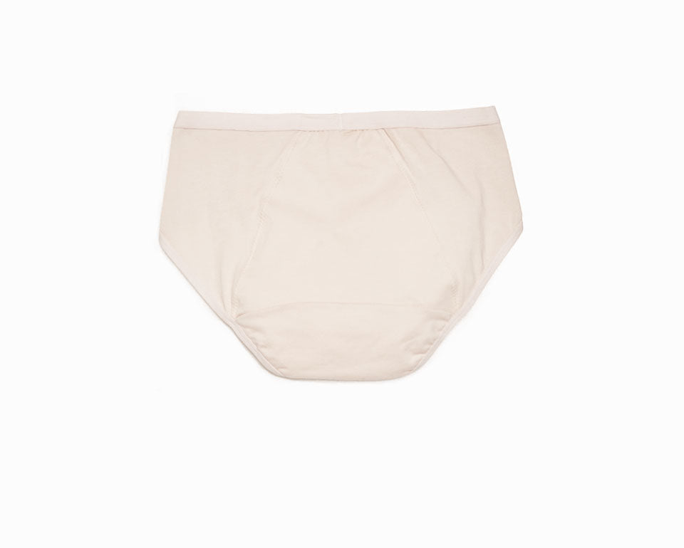 Sleep Tight • Mid Rise Cotton Menstrual Brief Panty - Peach Fleur