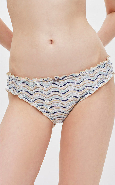 Vacation Lifestyle • Mid Rise Cotton Ruffled Brief Panty