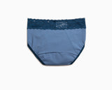 WINK • Mid Rise Cotton Lace Waist Menstrual Brief Panty