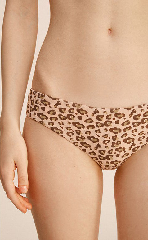 Wild • Low Rise Cotton Hipster Panty - Peach Fleur