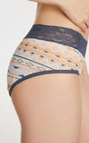 Fruit Punch • High Rise Cotton Lace Waist Menstrual Brief Panty - Peach Fleur