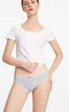 Hygiene Series • Mid Rise Cotton Side Cross Brief Panty - Peach Fleur