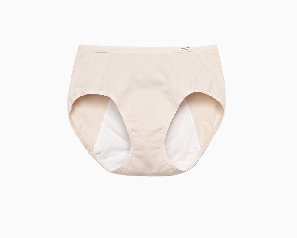 Sleep Tight • High Rise Cotton Menstrual Brief Panty - Peach Fleur