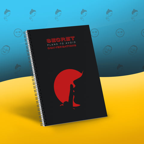 Secret Plans Notebook by Sarcose