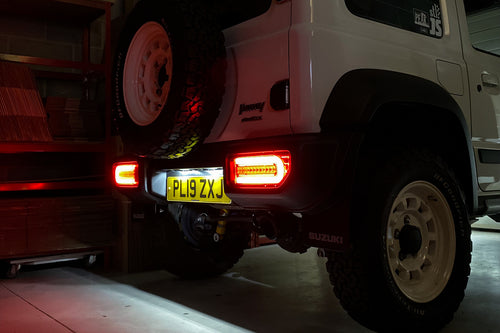 JIMNYSTYLE LED REAR NUMBER PLATE LIGHTS FOR SUZUKI JIMNY (2018+)