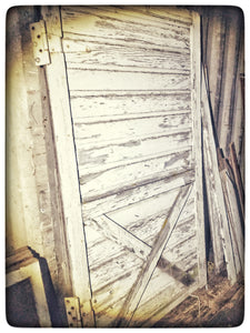 Authentic 1925 Reclaimed Chippy White painted Barn Door