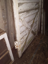 Load image into Gallery viewer, Authentic 1925 Reclaimed Chippy White painted Barn Door