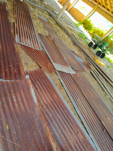 Reclaimed Heavy-Patina Corrugated Barn Metal- available in 12' and 7' sheets