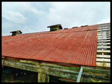 Load image into Gallery viewer, Reclaimed Heavy-Patina Corrugated Barn Metal- available in 12' and 7' sheets