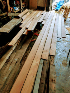 Reclaimed 1x4 Old-Growth Douglas Fir Tongue And Groove PNW Barn Wood planks
