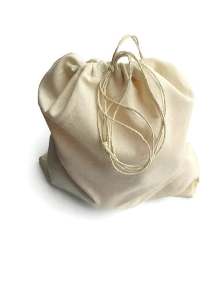 Produce Bags Set of 5, Reusable Produce Bags, Organic Muslin Cotton