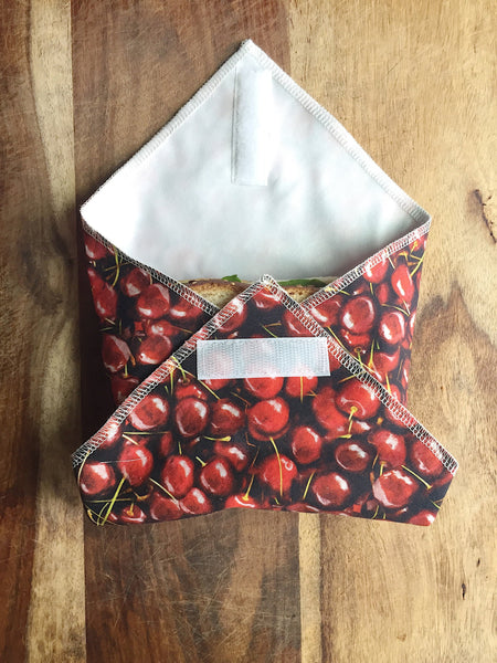 Reusable Sandwich Wrap, Cherries Food Wrap