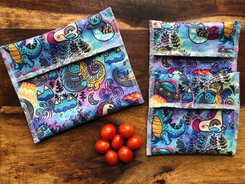 Snack Bag Set, Mythical Creatures Snack Bags