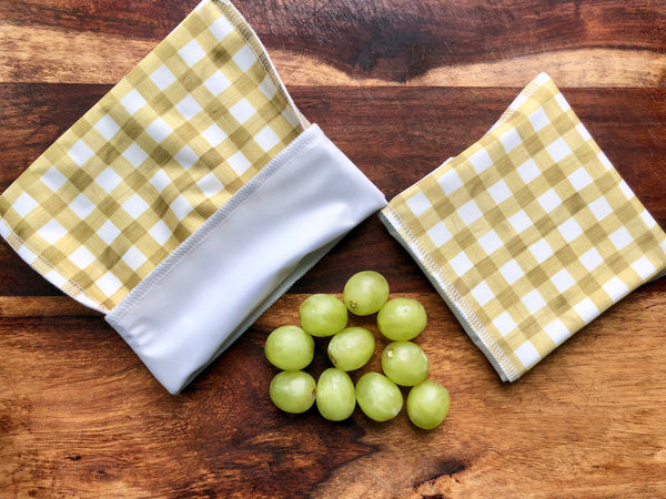 Yellow Thatch Snack Bags, Reusable Snack Set