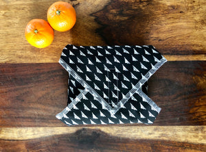 Reusable Food Wrap, Black and White Sandwich Wrap