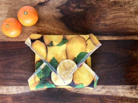 Reusable Food Wrap, Lemons Sandwich Wrap