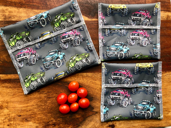 Monster Trucks Snack Bags