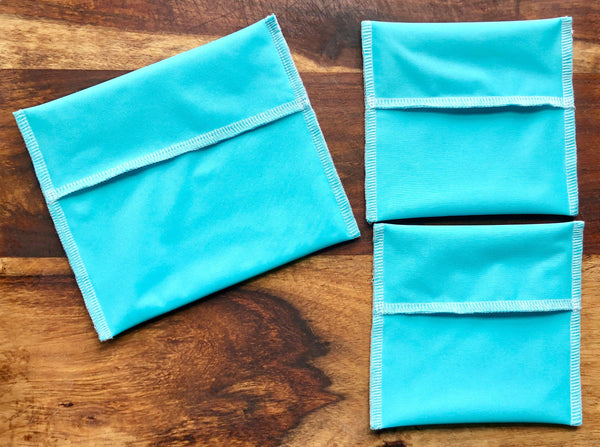 Solid Color Reusable Snack Bags