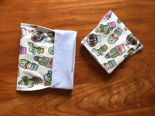 Cacti Snack Set, Reusable Snack Bags