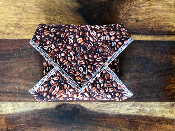 Reusable Food Wrap, Coffee Beans Sandwich Wrap