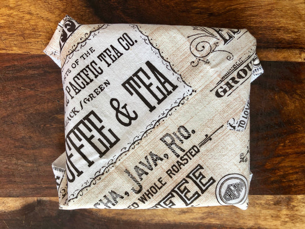 Reusable Sandwich Wrap, Coffee Lovers Food Wrap