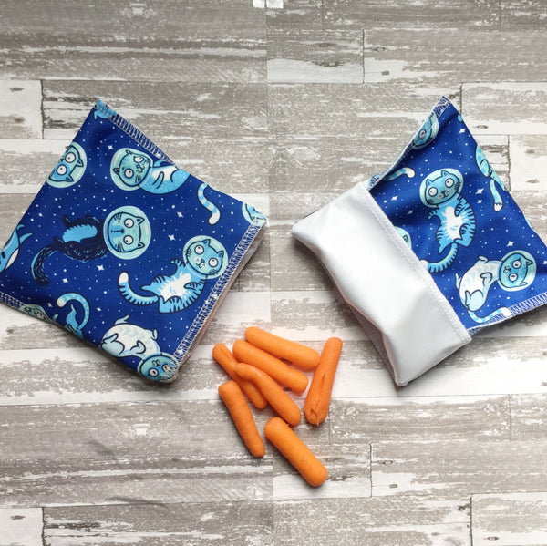 Set of 3 Snack Bags, Reusable Snack Bags