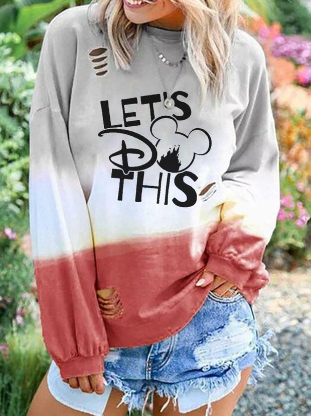 Mickey Mouse Leisure  Long Sleeve Pullover