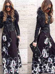 Mickey Printing Long Skirt