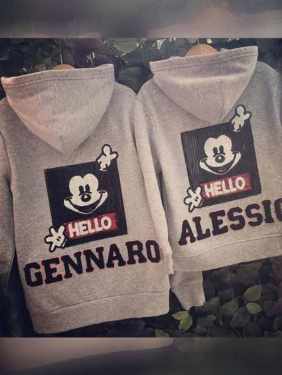 Mickey hooded parent-child jacket
